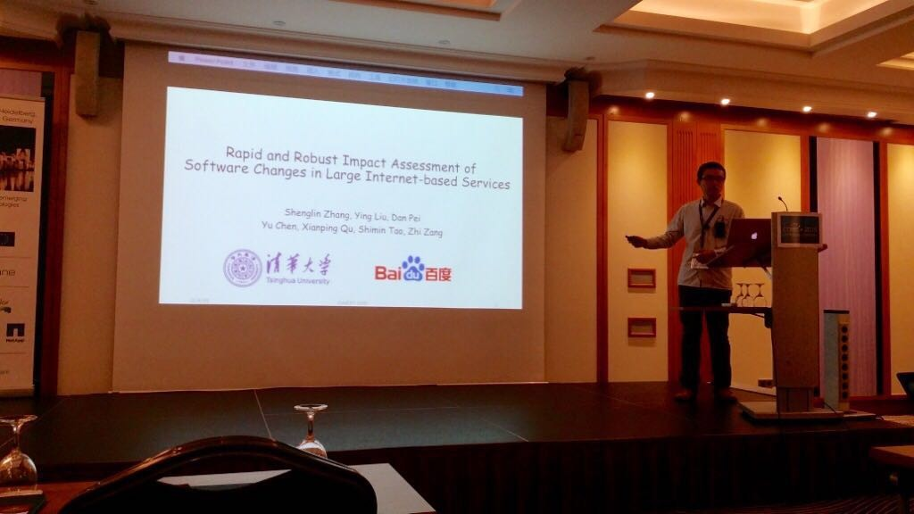 Shenglin Gave His Talk of FUNNEL at CoNEXT 2015 in Heidelberg