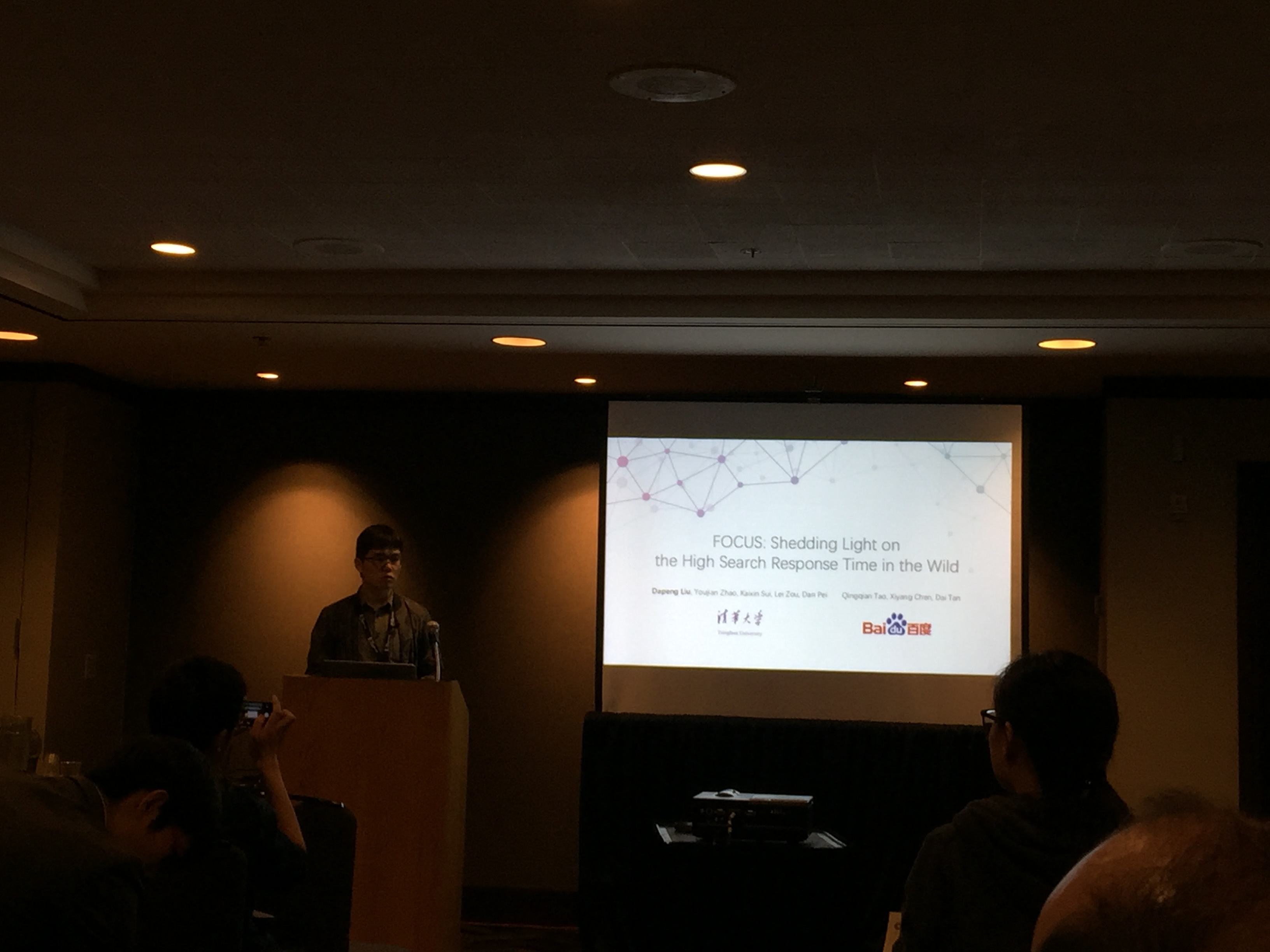 Dapeng delivered his talk on FOCUS at INFOCOM 2016 in San Francisco